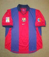 FC BARCELONA SPAIN CENTENARY FOOTBALL SHIRT HOME 1999/2000 NIKE VINTAGE