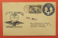 1929 FIRST FLIGHT CAM 25 COLUMBIAN SAINT PETERSBURG FL UPRATED STATIONERY