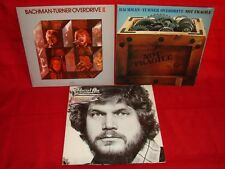 lot of 3 BACHMAN TURNER OVERDRIVE II head on not fragile LP record 70s rock BTO
