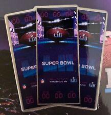 Super Bol 52 Lii Ticket Broche NFL Foot Philadelphia Eagles Champions Patriots