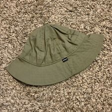 Vintage Stussy Olive Green Hiking Safari Bucket Hat Size S/M