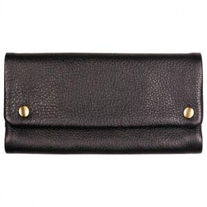 Feinschnitttasche / Tabakbeutel, TORTUGA VERDE Leder schwarz 15,5 cm