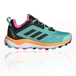 adidas Boys Terrex Agravic Flow Trail Running Shoes Trainers Sneakers Green