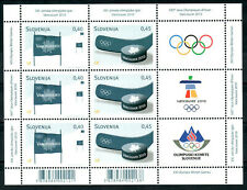Slovenia 2010 MNH  Olympic Games Vancouver Canada hockey puck stick