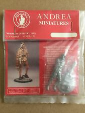 Andrea 1/32nd WW2 British Army SAS Officer Captain 1942 Metal Figurine