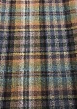 Mulberry Wool Check Plaid Fabric- Nevis / Teal Sienna Mauve 1.40 yd FD748.R35