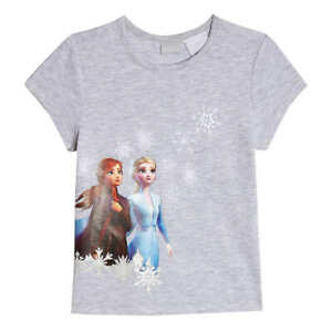 DISNEY FROZEN 2 ANNA ELSA Embroidered Tee T-Shirt NEW Toddler's Sz. 3T or 4T $15