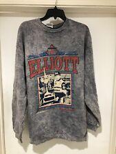 Vintage 1993 Bill Elliot #11 Acidwash Crewneck Sweatshirt Size XL Bud Nascar USA
