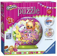 Shopkins 72 Piece '5 Inch 3d' Ball Jigsaw Puzzle Game Brand New Gift