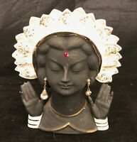 RARE VINTAGE HINDU NAPCO LADY'S HEAD C2635A dated 1956 with jewelry and bindi
