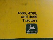 John Deere 4560 4760 and 4960 Tractors Operator's Manual   OMAR112280