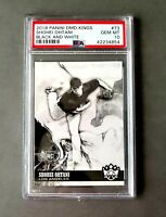 Shohei Ohtani PSA10 2018 RC Donruss Diamond Kings Black & White Variation