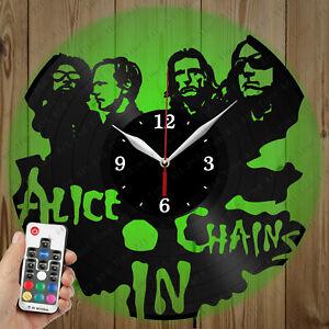 LED Vinyl Clock Alice in Chains LED Wall Art Decor Clock Original Gift 6040