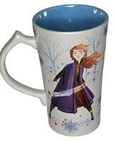 Disney Frozen Anna and Elsa 16oz Coffee Cup Blue and White Princess Mug