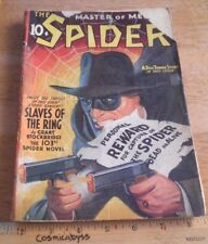 The Spider Master of Men pulp Apr 1942 ORIGINAL Slaves of the Ring