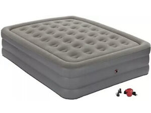 "NEW Coleman Queen AirBed+Pump 18"" Double GuestRest Mattress, inflatable 600LB"