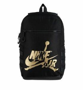 "Nike Air Jordan Jumpman Classic Backpack 15"" Laptop Pocket Black 9A0257-429 NWT"