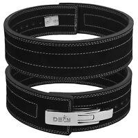 DEFY 10mm Weight Power Lifting Leather Lever Pro Belt Gym Training lifting Black