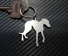 GREYHOUND Dog Breed Coursing Racing Keyring Keychain Key Stainless Steel