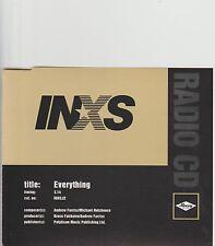 INXS-Everything UK 1 track promo cd