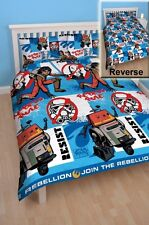 Star Wars Rebels 'Tag' Rotary Double Bed Duvet Quilt Cover Set Brand New Gift