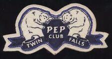 Vintage 1950's Twin Falls Idaho ID High School Pep Club Felt Patch Bruin Bears