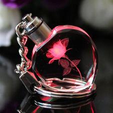 LED light Crystal Heart Purse Handbag Key Chains Rings Bag Charms Pendant Gift