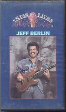 JEFF BERLIN - Star Licks master Series - VHS 1987 USATA BUONE CONDIZIONI