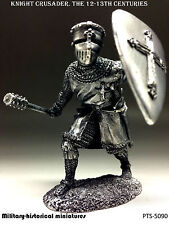 Knight Crusader, Tin toy soldier 54 mm, figurine, metal sculpture
