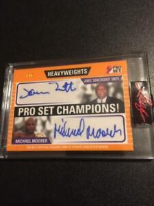 2021 Leaf Pro Set Michael Moorer James Smith Auto Autograph Encased #D 6/6 1/1 !