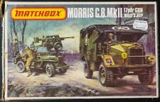 Vintage Matchbox PK-172 1:76 scale Morris C.8 MK II, 17pdr gun & Willy's Jeep