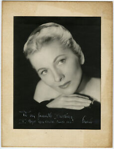 Hollywood Legend Joan Fontaine 1940s Original Autographed Hand Signed Photograph