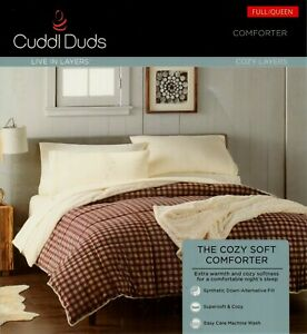 NIP Cuddl Duds FARMHOUSE PLAID  Reversible FULL / QUEEN COMFORTER
