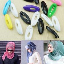 12x SCHWARZ Hijab Pin Kunststoff Schal Pins Muslim Hijab Sicherheitsnadel