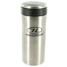 Highlander Sealed Thermal Mug Insulated Travel Flask Camping Cup Hiking Silver