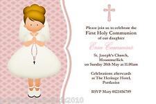 10 Personalised Communion Invitations Girl New Design 4