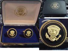 Pair of  new  presidential George H. W. Bush VIP Cobalt cufflinks