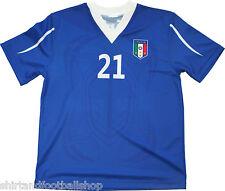 Maglia ITALIA Calcio Nazionale Azzurri replica  misure S-M-L-XL 10-8-6 anni
