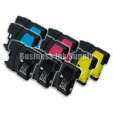 9 Pack NEW LC61 Ink Cartridges for brother printer LC61BK LC61C LC61M LC61Y LC61