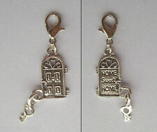 Home Sweet Home Door & Key Clip-On Charm in Gift Bag