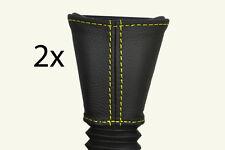 GIALLO Stitch adatto a Vauxhall Opel Corsa C 00-06 2x Gambo Cintura Sedile Anteriore copre