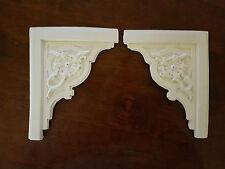 4 Ornate corner plaster pediments embellishments decor mouldings wall plaques