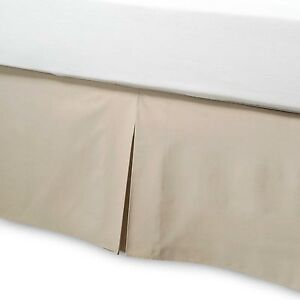 NEW Smoothweave™ 14-Inch Tailored TWIN Bed Skirt in Mocha