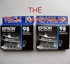 2-PACK Epson GENUINE 98 Black Ink (RETAIL BOX) for ARTISAN 800 810 835 837