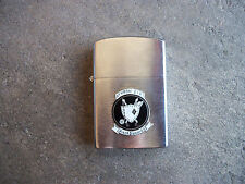 Vietnam era 1965 US Navy Pilot ATKRON 216 Black Diamonds Penguin Lighter