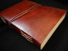 Handmade Leather Sketchbook Diary Journal - Handmade Paper - Vintage Look