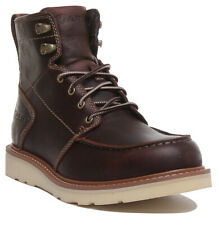 Ariat Recon Lace Mens Leather Ankle Boots In Dark Brown