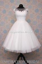 Lace Cap Sleeve Strapless Short Wedding Dresses