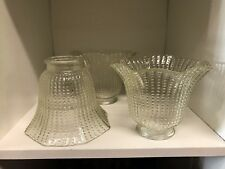 """Vintage Hobnail Glass Shades 2"""" Fitter Globes Ceiling Fan Fixture"""