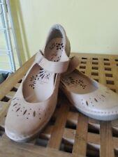 ladies f&f sensitive sole mary jane shoes beige 4